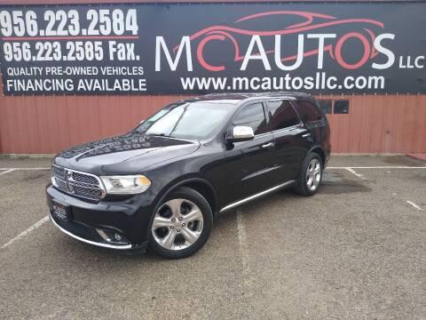2014 Dodge Durango for sale at MC Autos LLC in Pharr TX