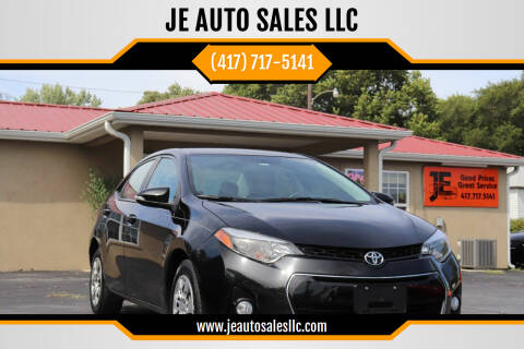 2016 Toyota Corolla for sale at JE AUTO SALES LLC in Webb City MO