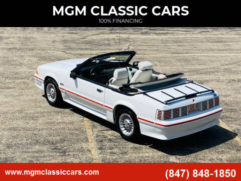 1989 Ford Mustang for sale at MGM Classic Cars in Addison, IL