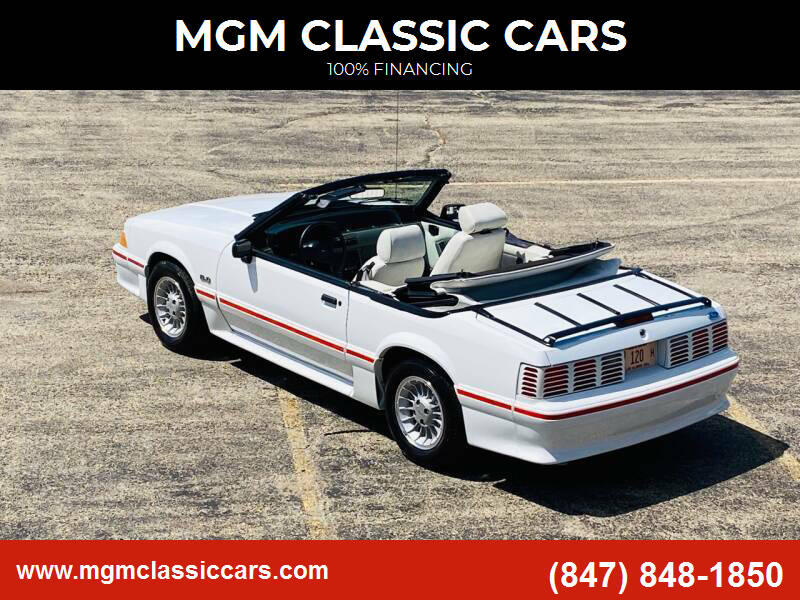 1989 Ford Mustang for sale at MGM CLASSIC CARS in Addison IL