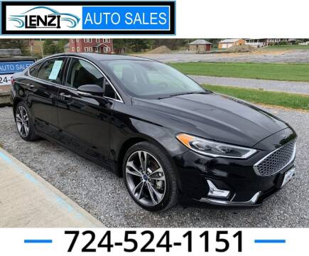 2019 Ford Fusion for sale at LENZI AUTO SALES in Sarver PA
