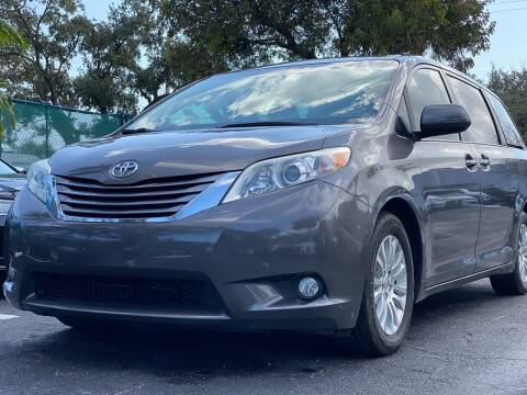 2016 Toyota Sienna for sale at HIGH PERFORMANCE MOTORS in Hollywood FL