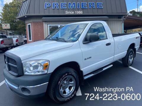 2008 Dodge Ram Pickup 1500 for sale at Premiere Auto Sales in Washington PA