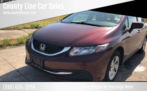 2014 Honda Civic for sale at County Line Car Sales Inc. in Delco NC