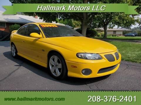 2004 Pontiac GTO for sale at HALLMARK MOTORS LLC in Boise ID