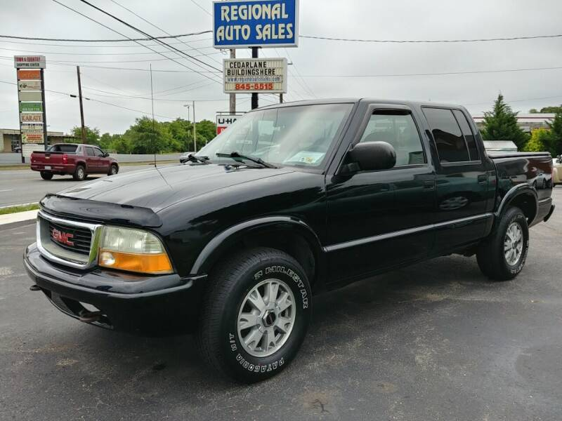 2002 GMC Sonoma for sale at Regional Auto Sales in Madison Heights VA