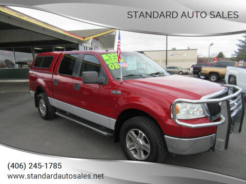 2008 Ford F-150 for sale at Standard Auto Sales in Billings MT