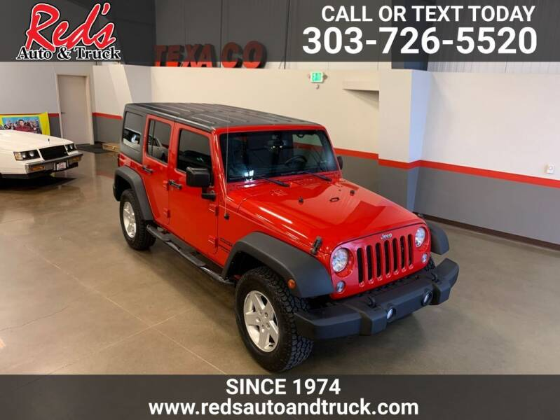 2014 Jeep Wrangler Unlimited for sale at Red's Auto and Truck in Longmont CO