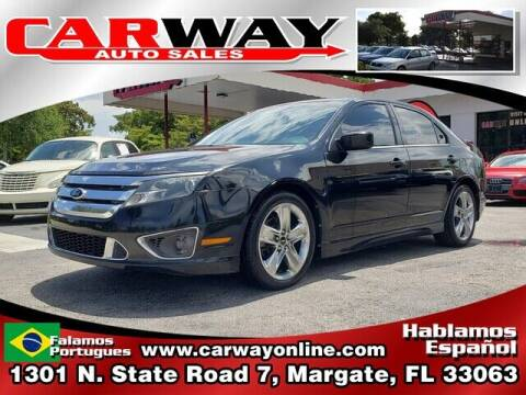 2010 Ford Fusion for sale at CARWAY Auto Sales in Margate FL