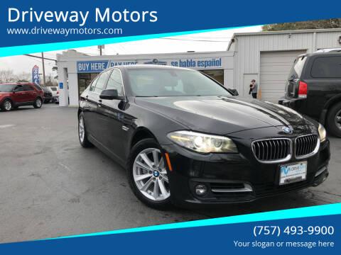 2015 BMW 5 Series for sale at Driveway Motors in Virginia Beach VA