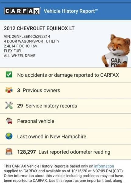 2012 Chevrolet Equinox AWD LT 4dr SUV w/ 1LT - Acton MA