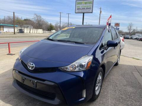 2015 Toyota Prius v for sale at Shock Motors in Garland TX