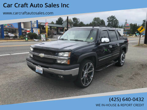 2006 Chevrolet Avalanche for sale at Car Craft Auto Sales Inc in Lynnwood WA