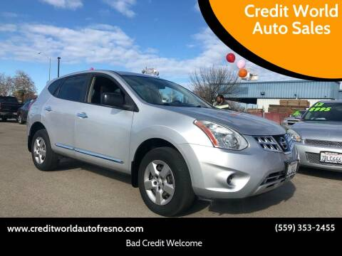 2012 Nissan Rogue for sale at Credit World Auto Sales in Fresno CA