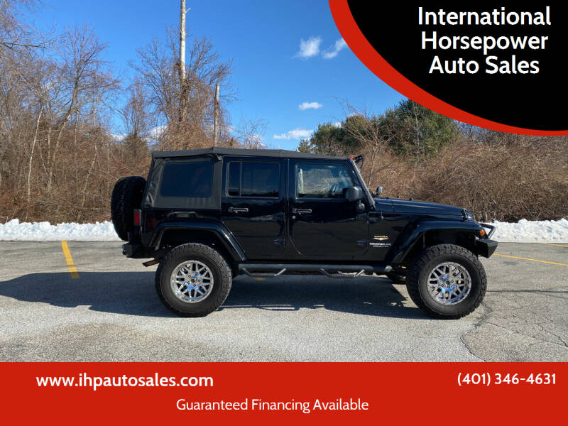 2013 Jeep Wrangler Unlimited for sale at International Horsepower Auto Sales in Warwick RI