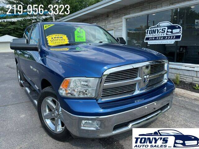 2011 RAM Ram Pickup 1500 for sale at Tonys Auto Sales Inc in Wheatfield IN