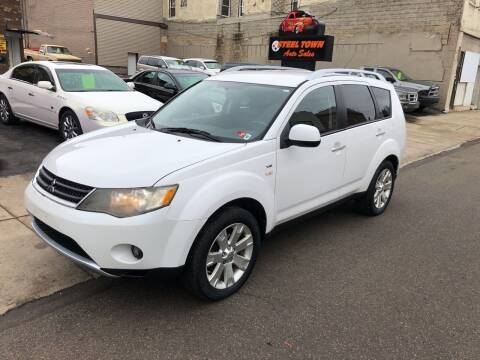 2008 Mitsubishi Outlander for sale at STEEL TOWN PRE OWNED AUTO SALES in Weirton WV