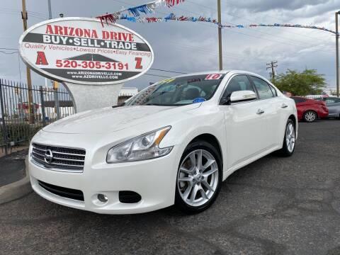 2010 Nissan Maxima for sale at Arizona Drive LLC in Tucson AZ