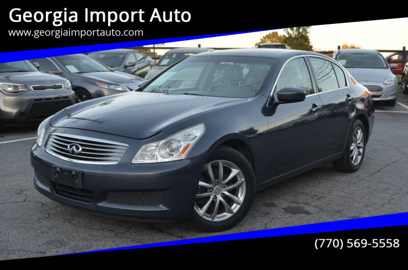 2009 Infiniti G37 Sedan for sale at Georgia Import Auto in Alpharetta GA