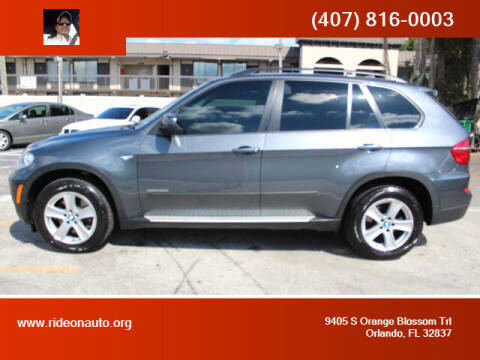 2012 BMW X5 for sale at Ride On Auto in Orlando FL