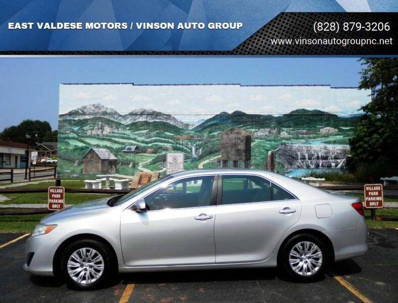 2014 Toyota Camry for sale at EAST VALDESE MOTORS / VINSON AUTO GROUP in Valdese NC