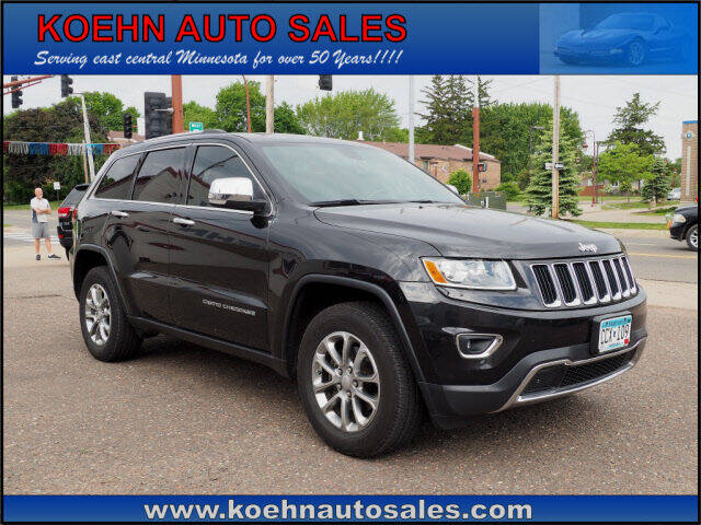 2014 Jeep Grand Cherokee for sale at Koehn Auto Sales in Lindstrom MN