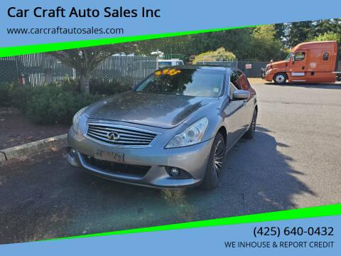 2011 Infiniti G25 Sedan for sale at Car Craft Auto Sales Inc in Lynnwood WA