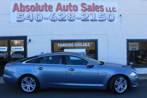 2013 Jaguar XJL for sale at Absolute Auto Sales in Fredericksburg VA