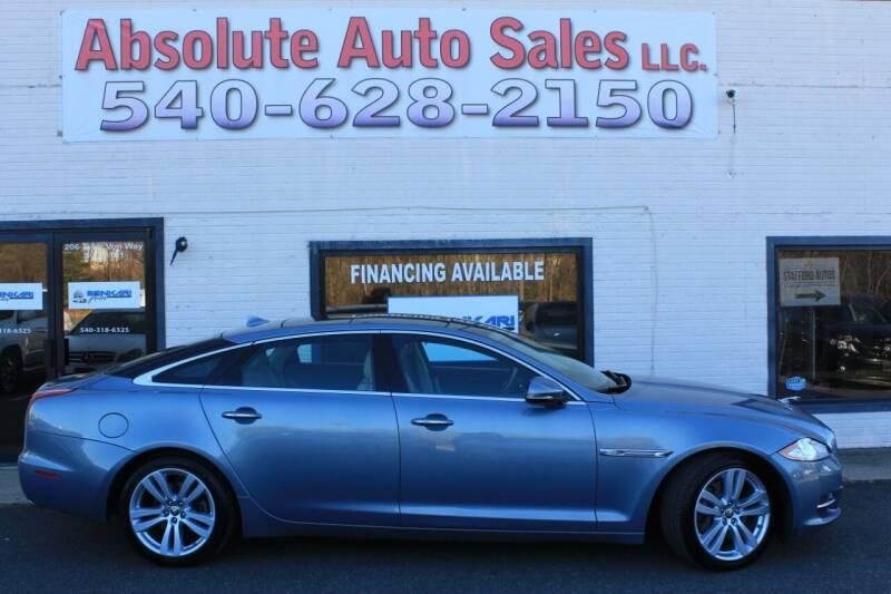 2013 Jaguar XJL for sale at Absolute Auto Sales in Fredericksburg VA