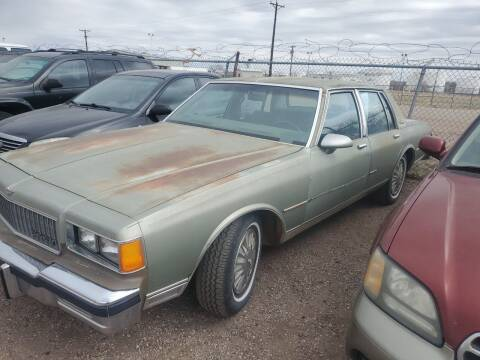1986 Chevrolet Caprice for sale at PYRAMID MOTORS - Fountain Lot in Fountain CO