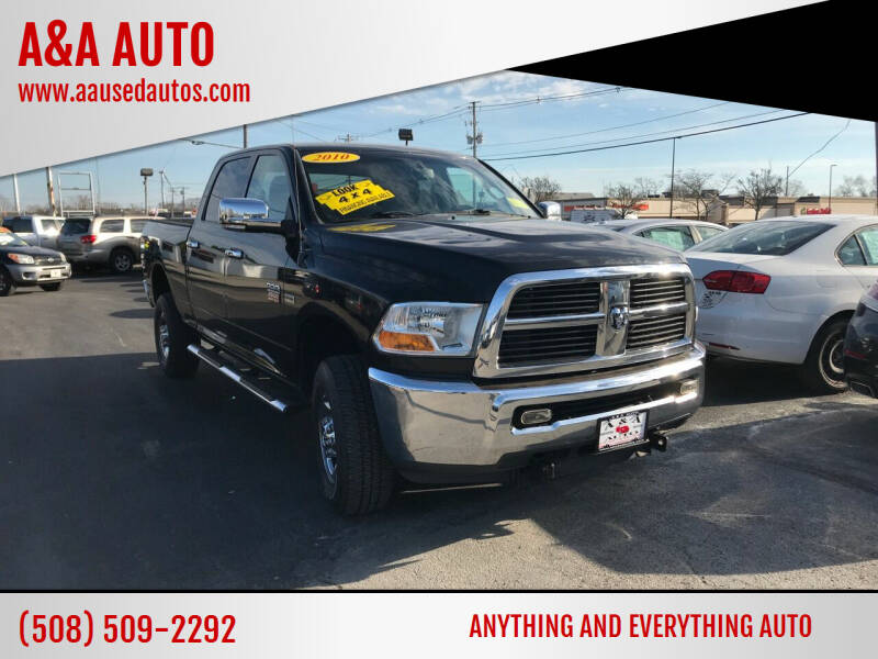 2010 Dodge Ram Pickup 2500 for sale at A&A AUTO in Fairhaven MA