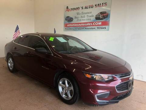2016 Chevrolet Malibu for sale at Antonio's Auto Sales - Antonio`s  2206 in Pasadena TX