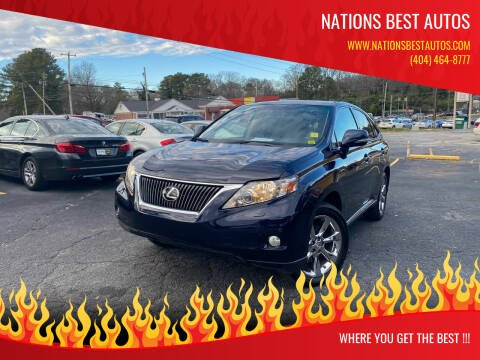 2010 Lexus RX 350 for sale at Nations Best Autos in Decatur GA