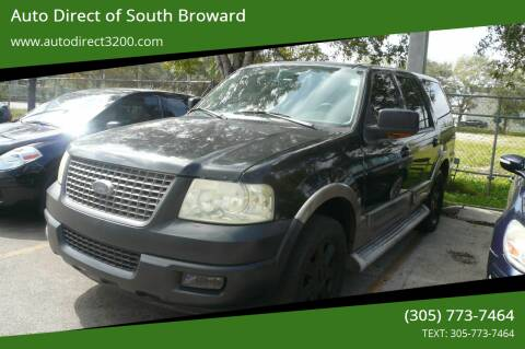 2004 Ford Expedition for sale at Auto Direct of South Broward in Miramar FL