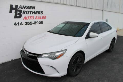 2016 Toyota Camry for sale at HANSEN BROTHERS AUTO SALES in Milwaukee WI