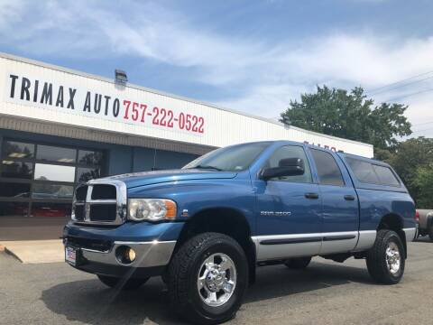 2005 Dodge Ram Pickup 2500 for sale at Trimax Auto Group in Norfolk VA