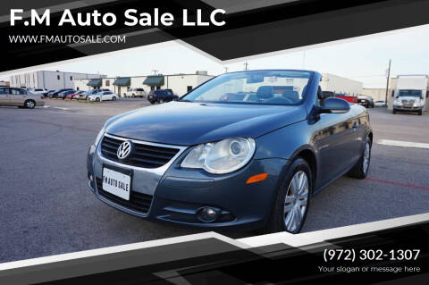 2007 Volkswagen Eos for sale at F.M Auto Sale LLC in Dallas TX