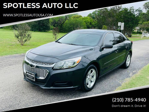 2015 Chevrolet Malibu for sale at SPOTLESS AUTO LLC in San Antonio TX