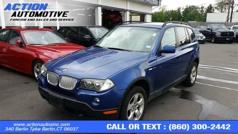 2007 BMW X3 for sale at Action Automotive Inc in Berlin CT