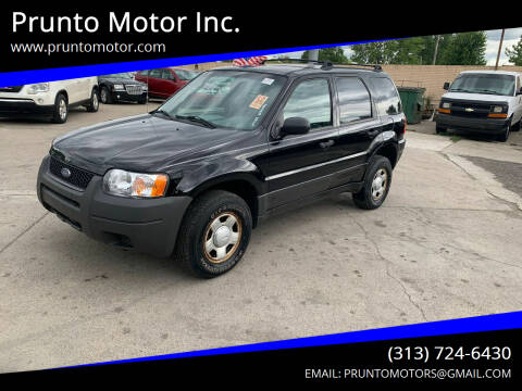 2004 Ford Escape for sale at Prunto Motor Inc. in Dearborn MI