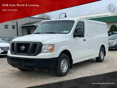 2016 Nissan NV Cargo for sale at DAB Auto World & Leasing in Wake Forest NC