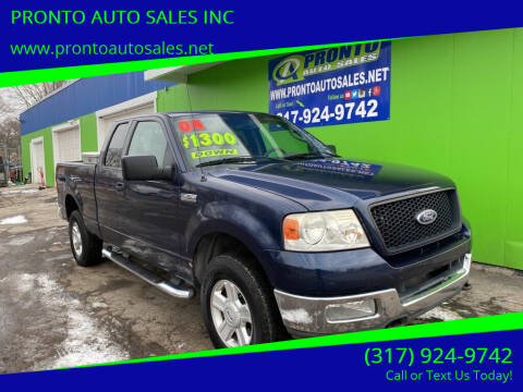 2004 Ford F-150 for sale at PRONTO AUTO SALES INC in Indianapolis IN