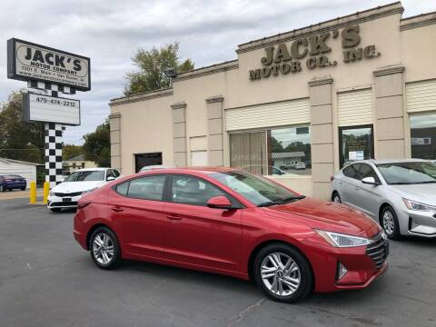 2020 Hyundai Elantra for sale at JACK'S MOTOR COMPANY in Van Buren AR