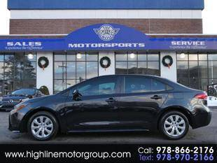 2020 Toyota Corolla for sale at Highline Group Motorsports in Lowell MA