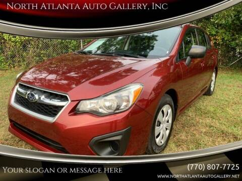 2013 Subaru Impreza for sale at North Atlanta Auto Gallery, Inc in Alpharetta GA