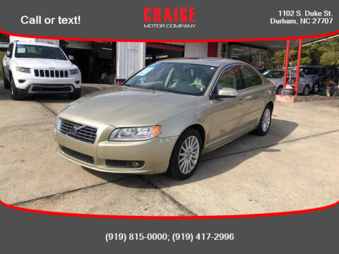 2008 Volvo S80 for sale at CRAIGE MOTOR CO in Durham NC