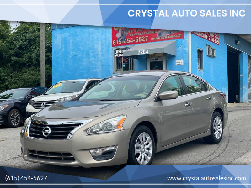 2014 Nissan Altima for sale at Crystal Auto Sales Inc in Nashville TN