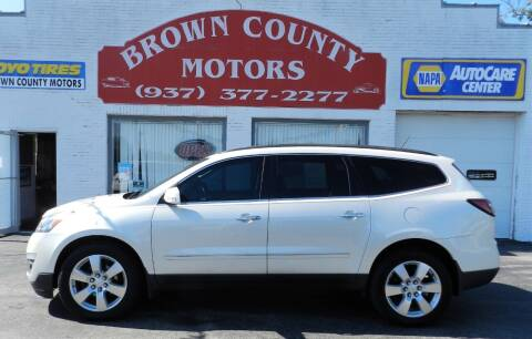 2013 Chevrolet Traverse for sale at Brown County Motors in Russellville OH
