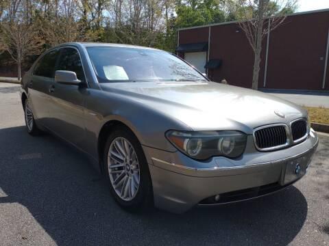 2004 BMW 7 Series for sale at Georgia Fine Motors Inc. in Buford GA