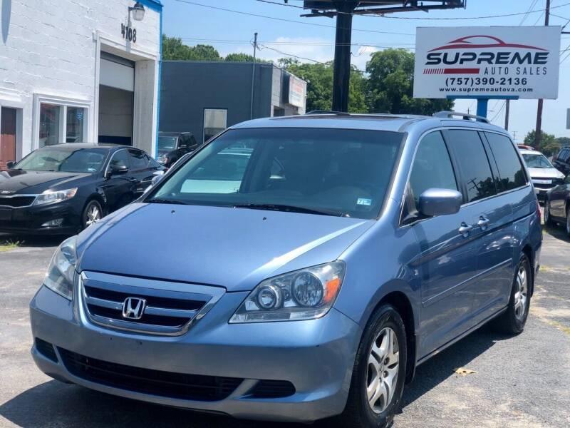 2007 Honda Odyssey for sale at Supreme Auto Sales in Chesapeake VA